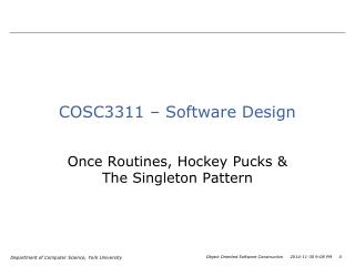 COSC3311 – Software Design