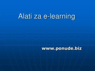 Alati za e-learning