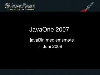 JavaOne 2007