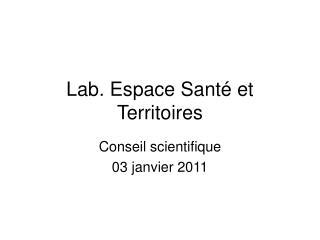 Lab. Espace Sant  et Territoires