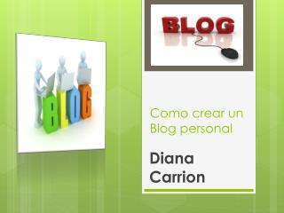Como crear un Blog personal