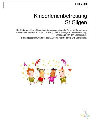 Kinderferienbetreuung St.Gilgen