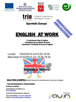 Inglese e lavoro!