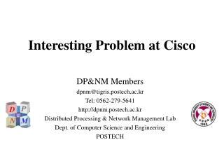 Interesting Problem at Cisco