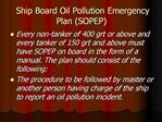 Ship Board Oil Pollution Emergency Plan SOPEP