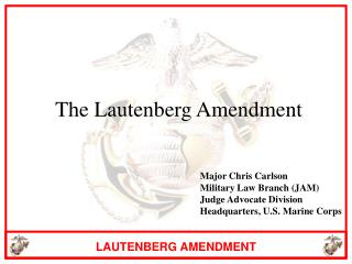 Lautenberg Amendment Power Point from USMC JAG