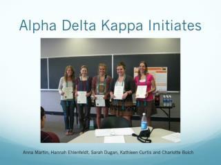 Alpha Delta Kappa Initiates