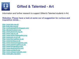 Gifted & Talented - Art
