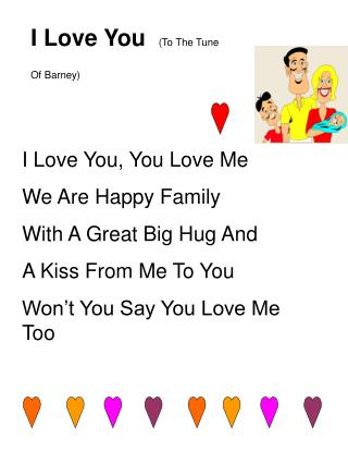 I Love You   (To The Tune Of Barney)