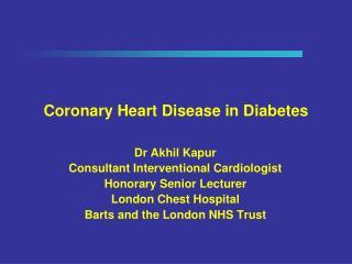 Coronary Heart Disease in Diabetes