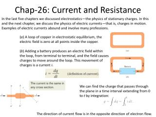 Chap-26: Current and Resistance