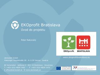 EKOprofit Bratislava Úvod do projektu