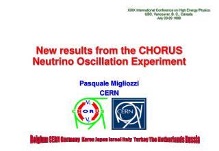 New results from the CHORUS Neutrino Oscillation Experiment