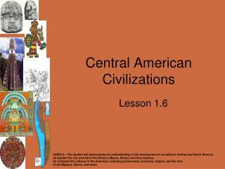 Central American Civilizations