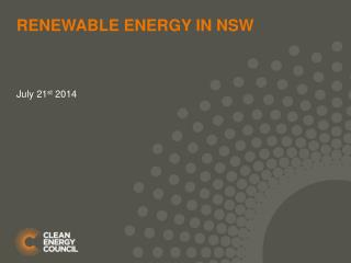 Renewable energy in NSW