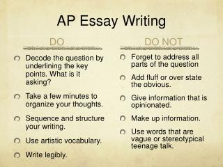 AP Essay Writing