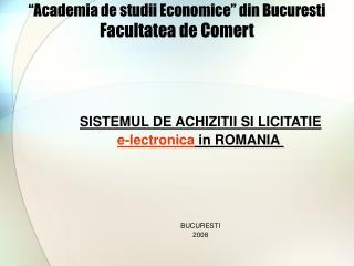 """""""Academia de studii Economice"""" din Bucuresti Facultatea de Comert"""