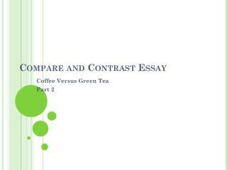 Body compare contrast essay
