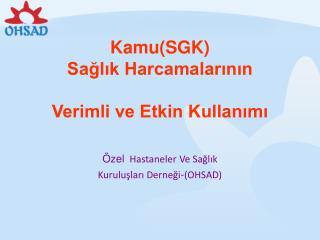 Kamu(SGK)  Sağlık Harcamalarının Verimli ve Etkin Kullanımı
