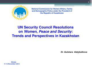 Almaty 11-12  November  201 3