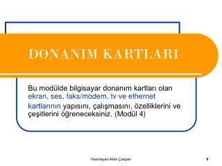 DONAN I M KARTLARI
