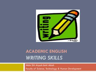 ACADEMIC ENGLISH WRITING SKILLS
