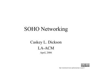 SOHO Networking