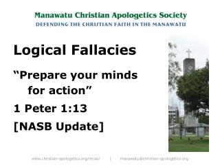 "Logical Fallacies ""Prepare your minds for action""  1 Peter 1:13  [NASB Update]"