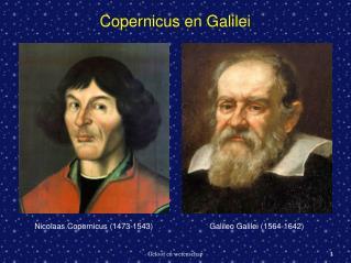 Copernicus en Galilei
