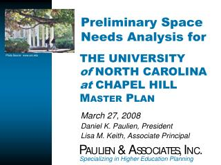 Preliminary Space Needs Analysis for