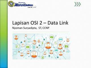Lapisan  OSI 2 – Data Link Nyoman Suryadipta ,  ST, CCNP