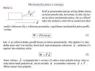Mechanick  pr ca a energia