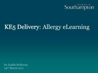 KE5 Delivery: Allergy eLearning