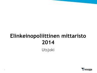 Elinkeinopoliittinen mittaristo 2014
