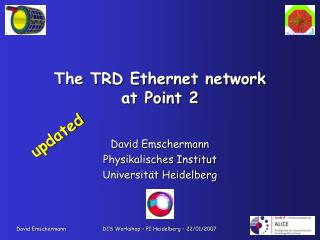 The TRD Ethernet network at Point 2