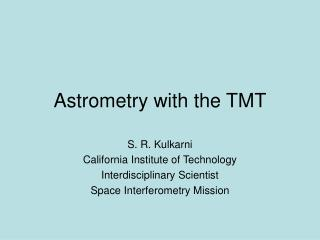 Astrometry with the TMT
