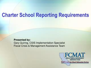 Charter School Reporting Requirements