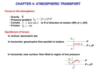CHAPTER 4: ATMOSPHERIC TRANSPORT