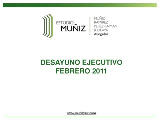 DESAYUNO EJECUTIVO FEBRERO 2011