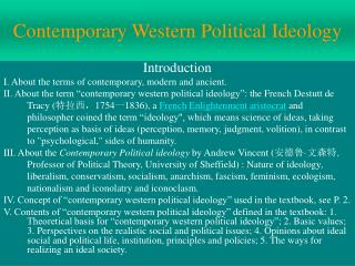 Contemporary Western Political Ideology