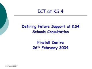 ICT at KS 4