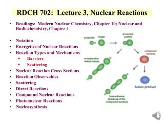 RDCH 702:  Lecture 3, Nuclear  Reactions