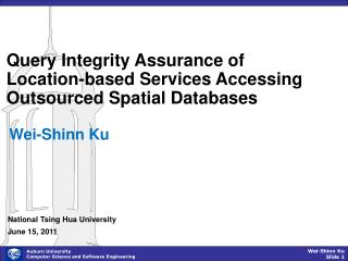 Query Integrity Assurance of Location-based Services Accessing Outsourced Spatial Databases