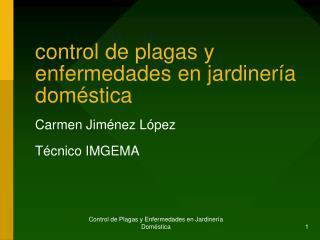 control de plagas y enfermedades en jardinería doméstica