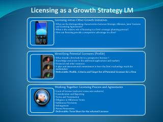 Licensing as a Growth Strategy LM