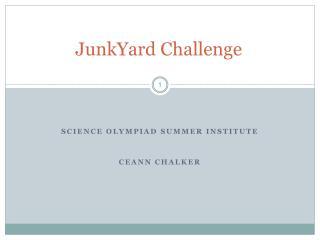 JunkYard Challenge