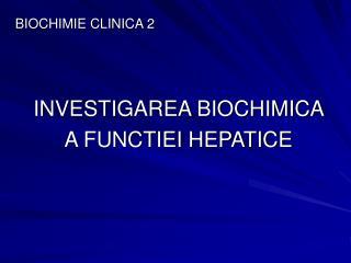 BIOCHIMIE CLINICA 2