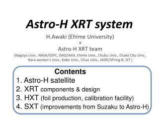 Astro-H XRT system