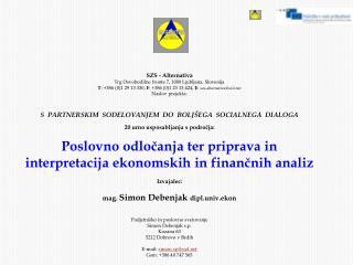 SZS - Alternativa Trg Osvobodilne fronte 7, 1000 Ljubljana, Slovenija