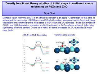 Density functional theory studies of initial steps in methanol steam reforming on  PdZn  and  ZnO